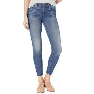 "7 For All Mankind ""Ankle Skinny"" with Cut Off Hem"